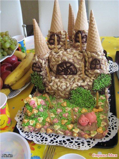 Торт замок своими руками рецепт