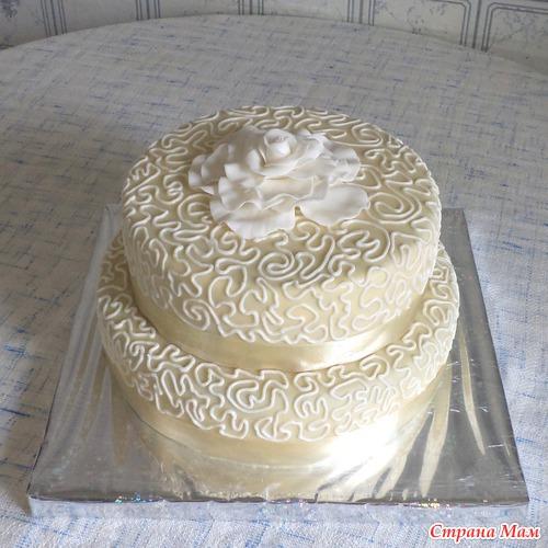 Фото украшеных тортов масляным кремом
