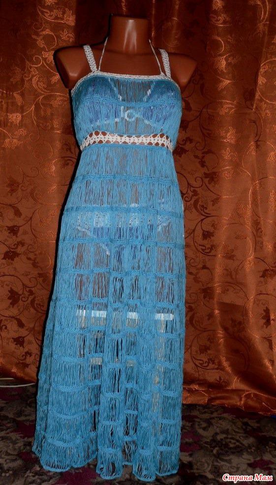 Вязать На Вилке Платье 101