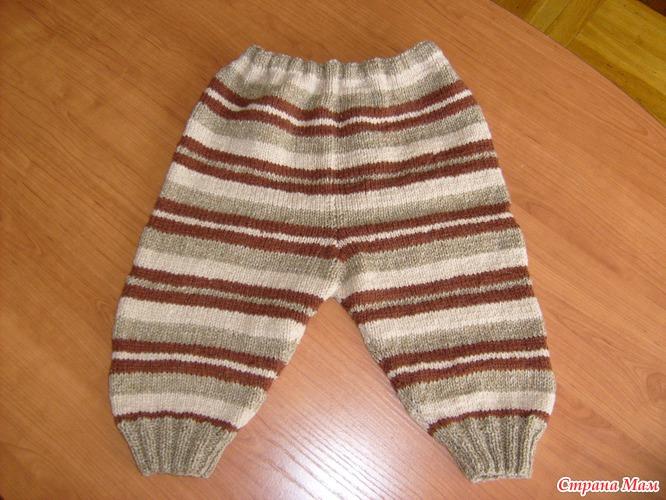 Вязание спицами штанишки для малыша видео