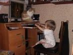 """""""Уйди, неразумное животное! Не видишь, хомо сапиенс виртуальный мир покорять идет?!"""""""