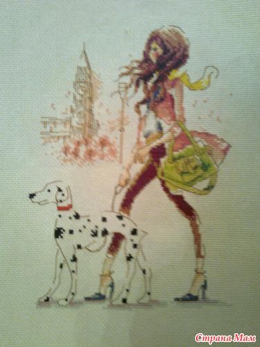 Девушка париж вышивка