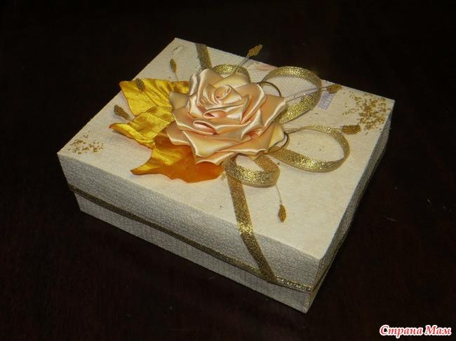 Как сделать коробочку из канзаши