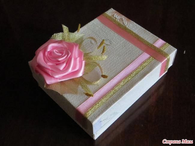 Бант на подарочную коробку своими руками