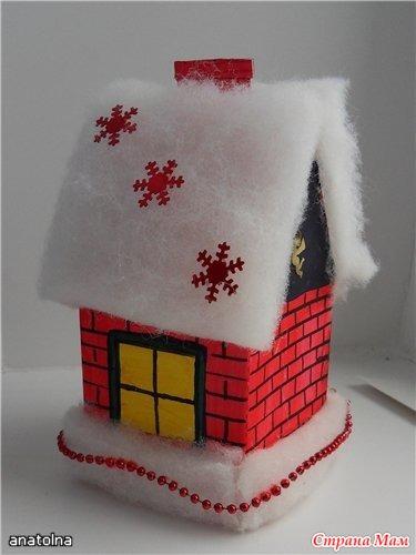 Как сделать домик игрушку на елку