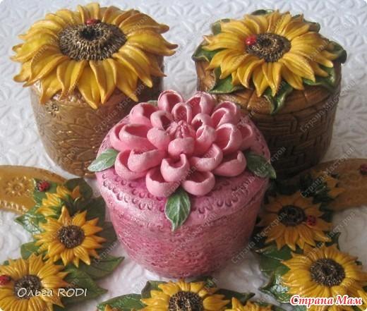 цветы из соленого теста фото: