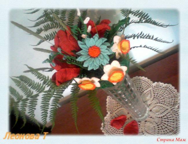 """Dec 14, 2012 - Цветок ирис крючком. .   """"Вязать из мусорных пакетов увлекательно и не сложно. ."""
