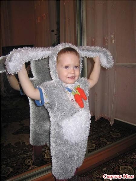Как связать костюм зайца