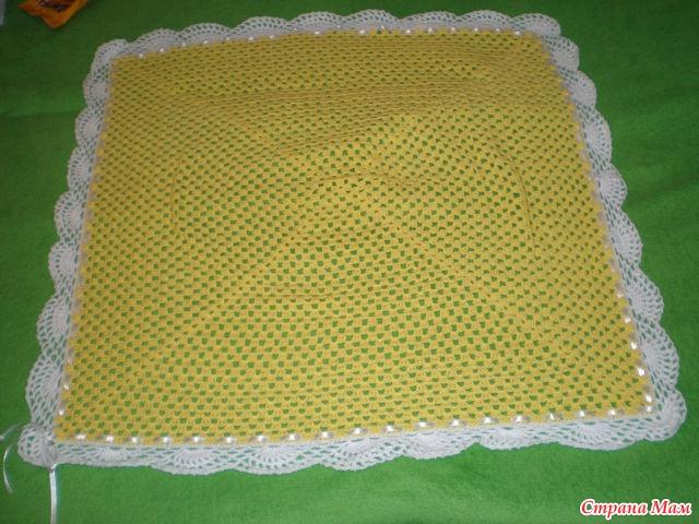 Вязание детского пледа квадрат 979