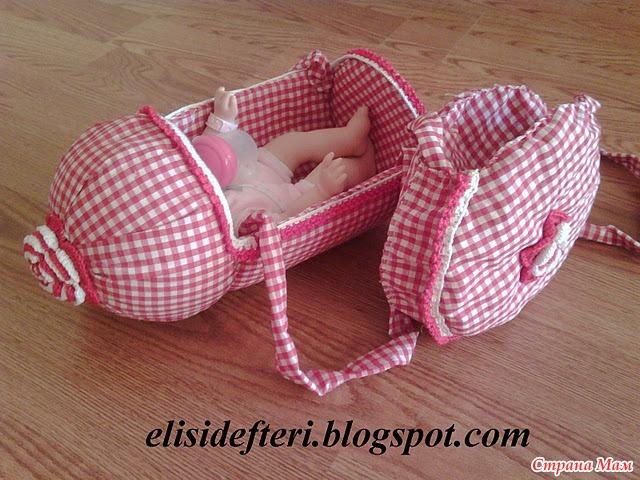 Как сделать люльку для маленькой куклы