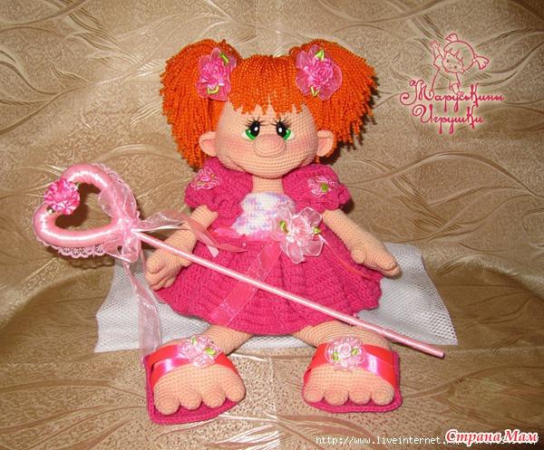 Кукла вязаная спицами схема от