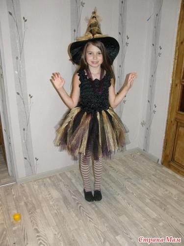 Новогодний костюм ведьмочки своими руками