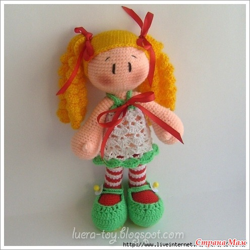 схема вязания куклы