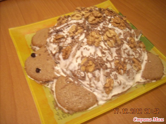 Готовим торт черепаха фоторецепт