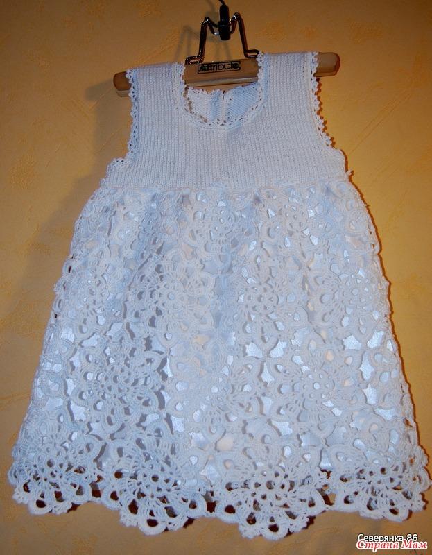 Вязание платья крючком для нового года