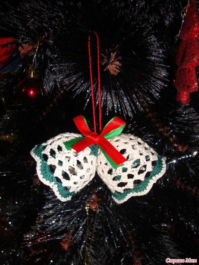 Новогодние колокольчики на елку своими руками