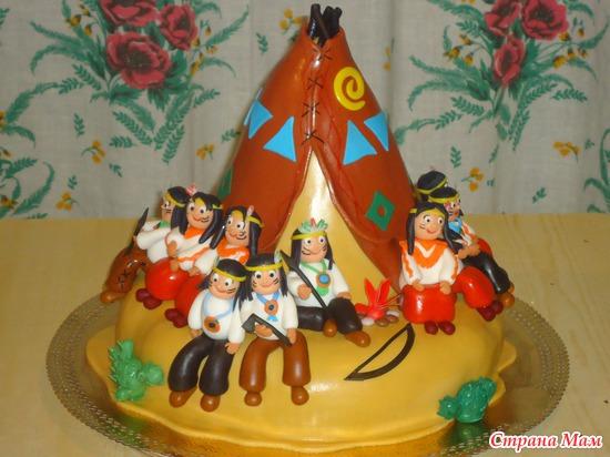 Торт с индейцами фото