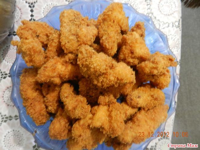 Курица в сухарях пошаговый рецепт с фото