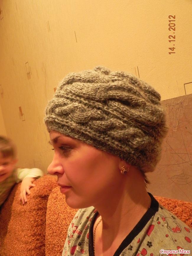 Как связать обьемную шапку на спицах