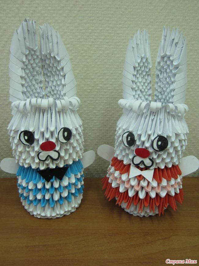 Девочка заяц оригами