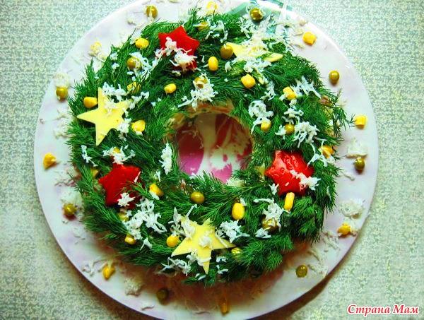 новогодние салаты с оформлением фото