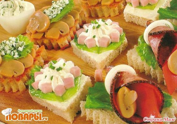 бутерброды закуски вкусные красивые быстрые в приготовленнии с фото