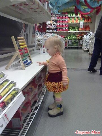 Детские юбки из ленточной пряжи