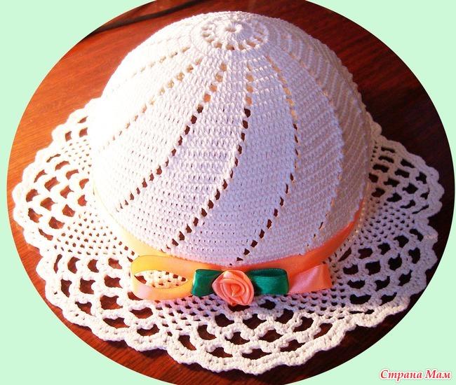 Урок вязания шляпки 61