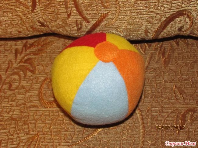 Мягкий мяч для малышей своими руками 32
