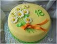 У меня тортик для очень скромной девушки на 18-летие, оформление тоже попросили очень скромное, а вот сам торт аж на...