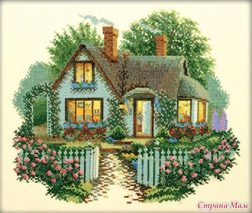 Схема вышивки домика мечты