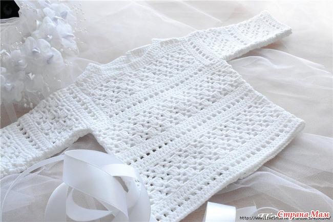 Давайте свяжем для наших красавиц легкий, нарядный свитерок!