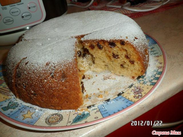 Кекс с изюмом рецепт в мультиварке с пошагово простой