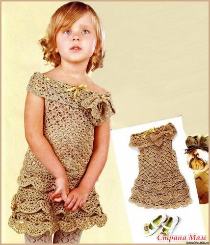 Платье на девочку вязание крючком