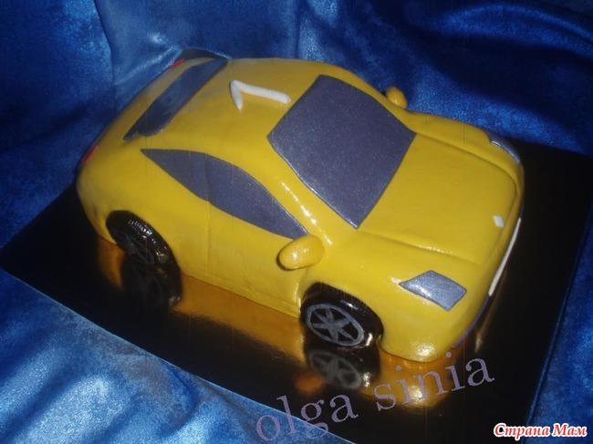 Торт мастикой машинка рецепт фото
