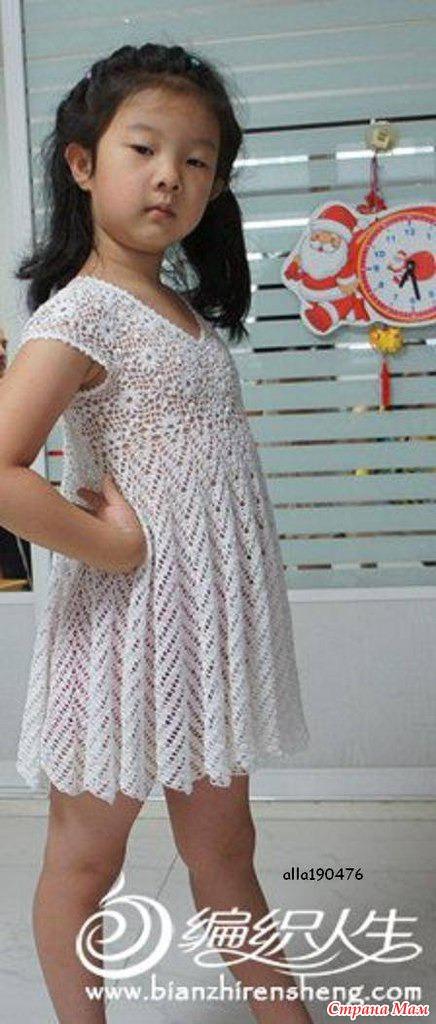 Ажурное платье для девочки.