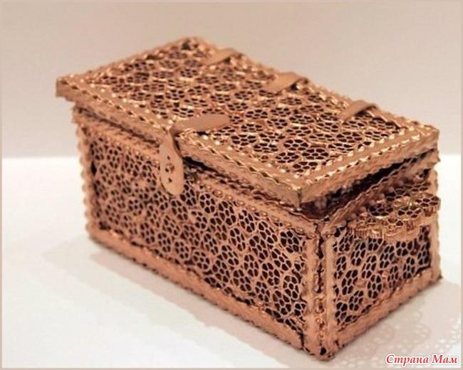 Деревянное дорожКоробочка из бутылКак сделать шкатулку из