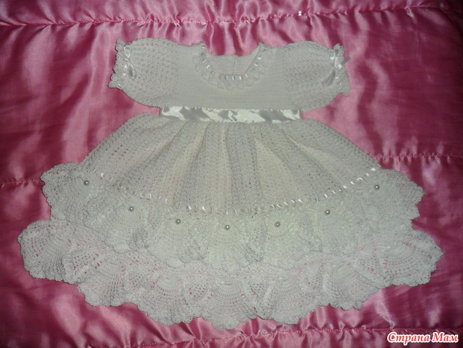 детское платье крючком из