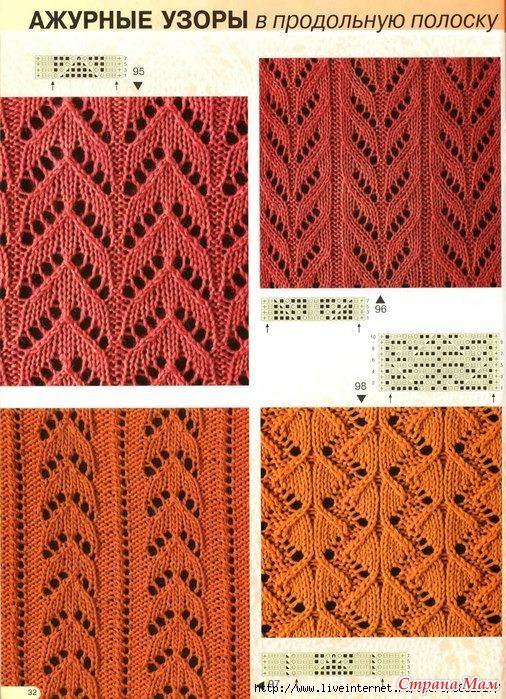 страна мам вязание спицами ажурные узоры