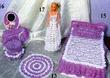 """Одежда для кукол (Барби) - Платье  """"Кармен """" и шляпка. .  Вязание крючком и спицами. ."""