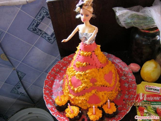 Торт на 4 годика дочке