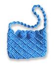 Застёгивается на плетёные пуговицы.  Эта небольшая симпатичная сумочка сплетена в технике макраме из шнура.