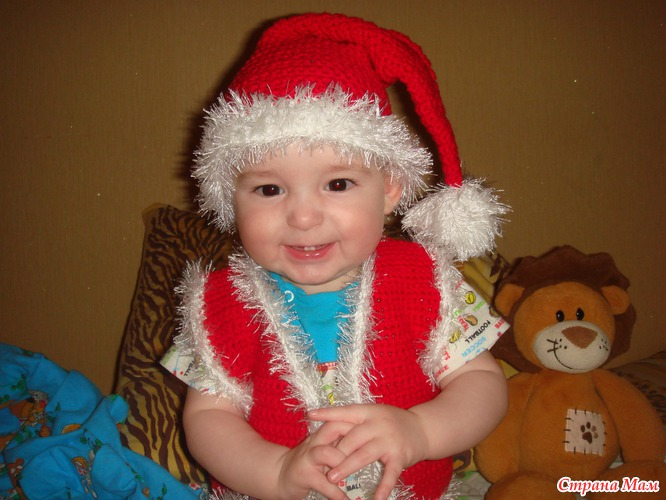 Детские вязанные новогодние