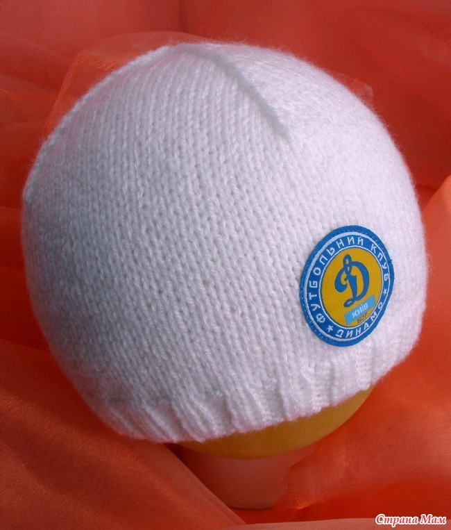 Связать шапку спортивного