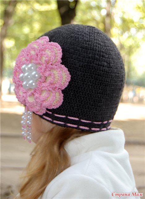 Вязание шапок для девочек на осень
