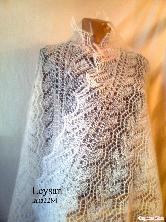 Вязание мохера шали спицами