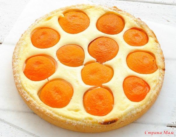 Творожный пирог из абрикосов рецепт с