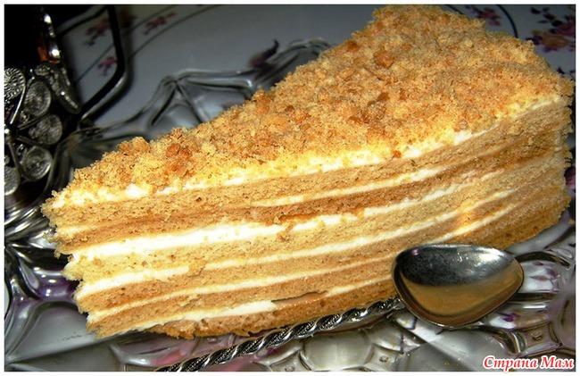 Рецепт и ингридиенты медового торта с фото