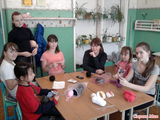 Кружок вязания в школе