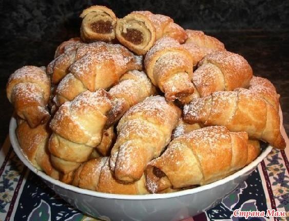 Печенье рогалики с повидлом рецепт с фото